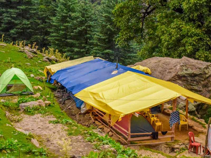 Camping at Kheerganga