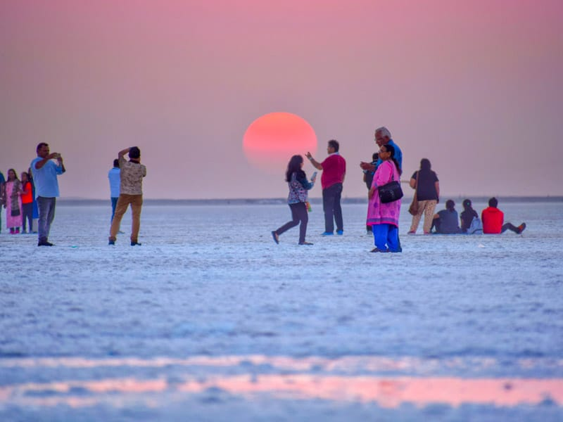 Sunset at White Rann