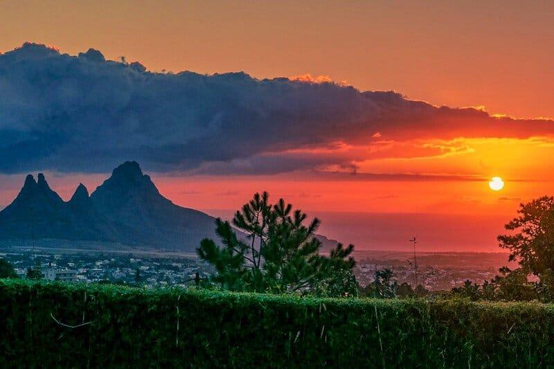 Sunset at Curepipe, Mauritius
