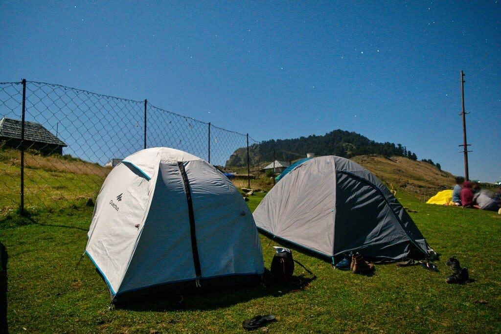 Camping at Prashar Lake