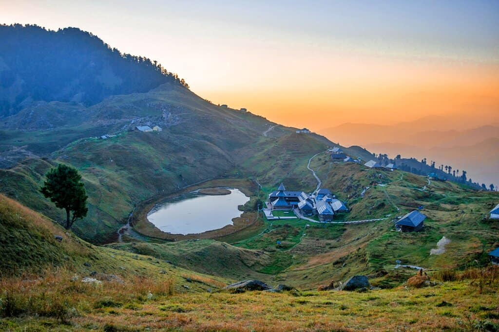 Prashar Lake at Sunset