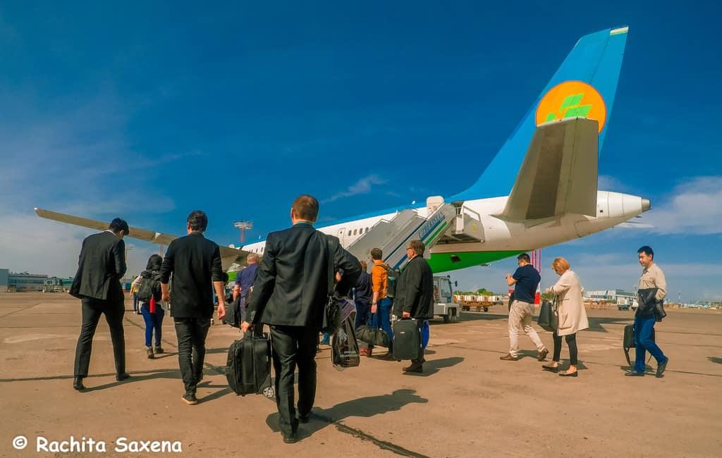 Flight to Almaty City