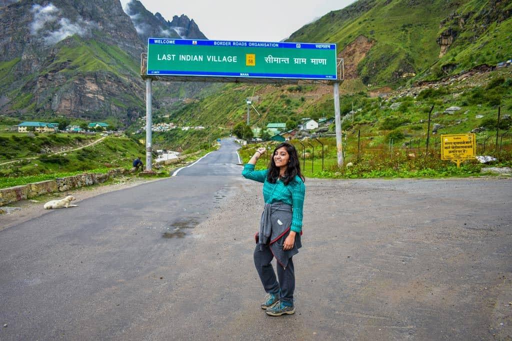 Entering Mana Village
