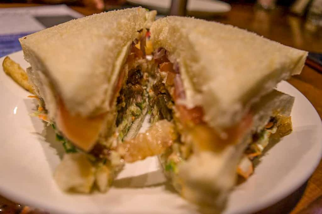 Pork Sandwich in Shillong Cafe
