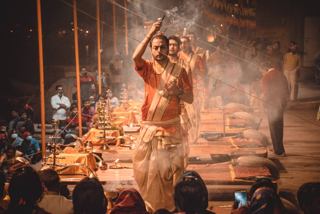 Ganga Aarti at Dasaswamedha Ghat